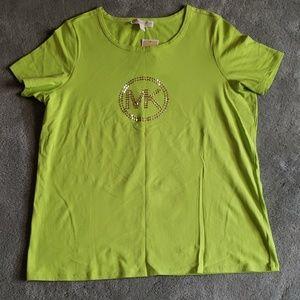 NWT Michael Kors Sz 1X lime green shirt